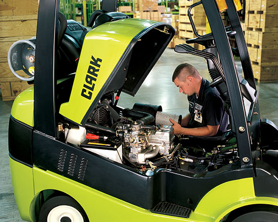 Trained forklift technicians