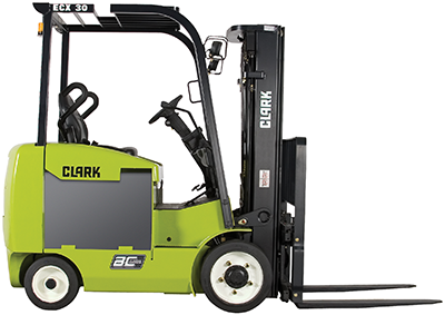 4,000-6,500 lb. Clark electric forklift cushion tires clipped image