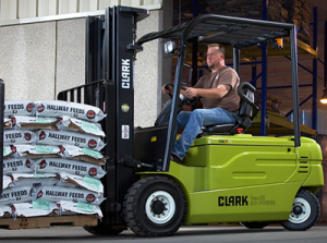 Clark 5,000 lb. electric forklift
