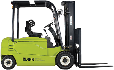 4,000-6,500 lb. electric solid pneumatic tires Clark forklift clipped image