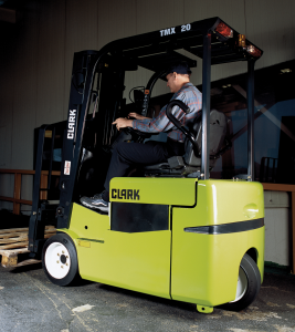 3-wheel forklift from Clark