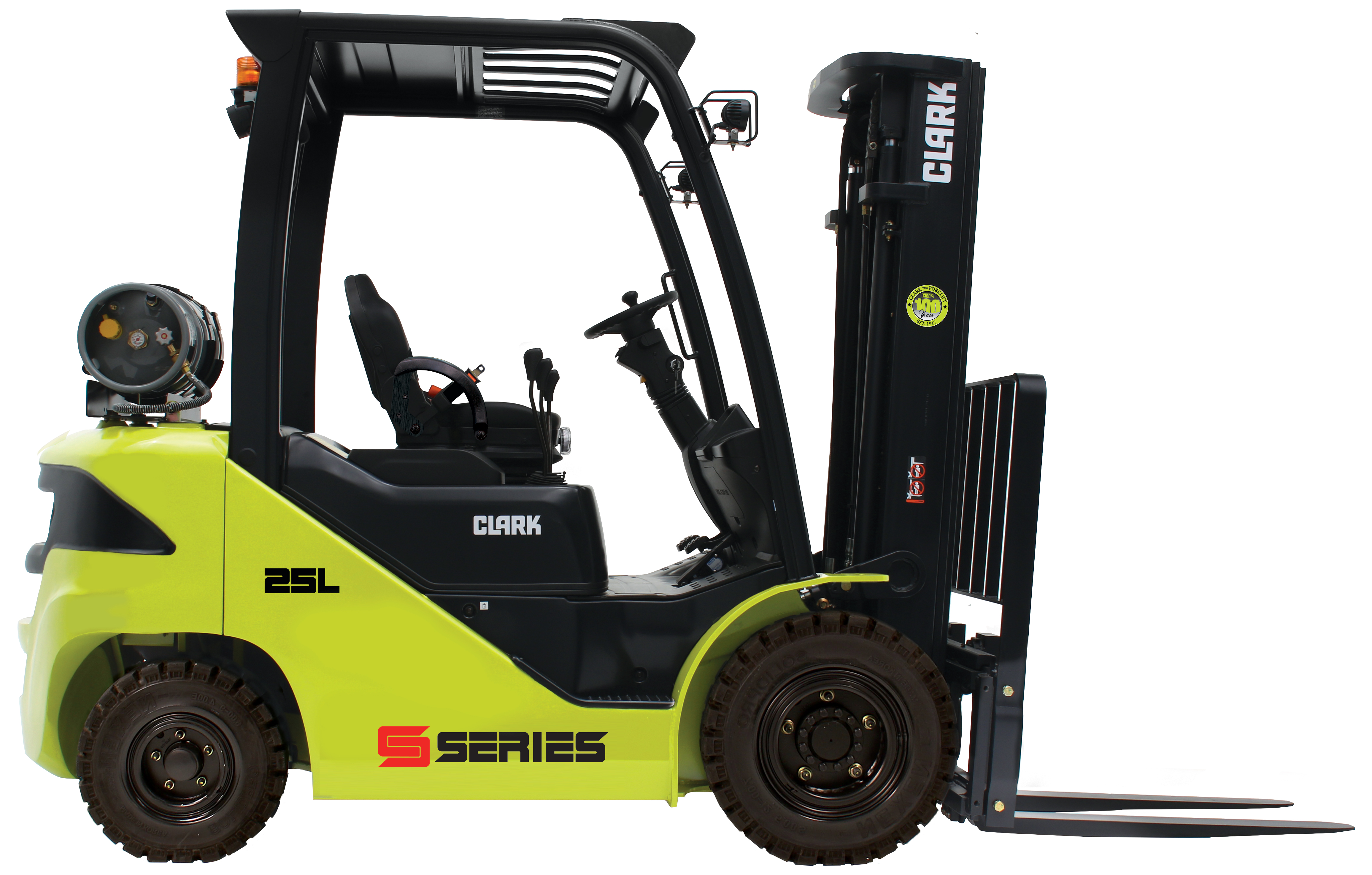forklift with pneumatic tires