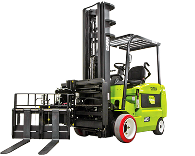 turret_6,000lbs_forklift_attachment_narrow_aisle_application